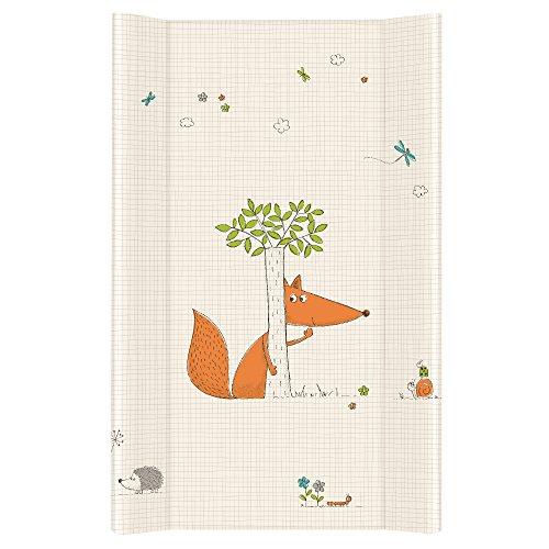 Ceba Baby Wickelauflage Wickelunterlage Wickeltischauflage 2 Keil Feste 80x50 cm Abwaschbar für Mädchen und Junge - Fuchs 80 x 50 cm