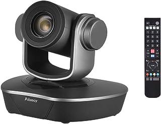 Aibecy ウェブカメラ tv会議用 1080P 60fpsフルHD 20倍光学ズーム オートフォーカスレンズ webカメラ 天井マウント 3脚 壁掛け対応ビデオカメラ 遠隔教育 リモート会議
