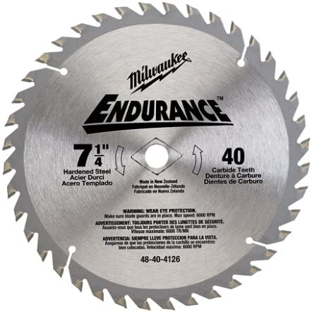 Milwaukee 48-40-4126 Endurance 7-1 Super Special SALE held 4-Inch ATB Challenge the lowest price Thin 40 Tooth Kerf