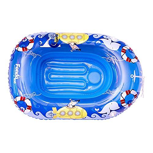 Aufblasbares Boot für Kinder, Marineblau, 112 x 70 cm (46266)