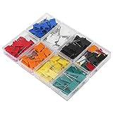 Empuje los contactos - 8 Rectángulos Bandera Colorida Forma de Mapa Clavijas Mariposa Tack Dibujo Suministros de librería