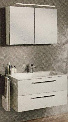 Burgbad Set mit Waschtisch 61cm mit Unterschrank und Spiegelschrank