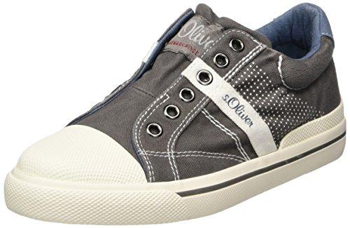 s.Oliver Jungen 54100 Slip On Sneaker, grau (grey), 37 EU