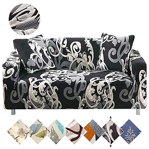 Sofa Cover, Stretch Couch Slipcover with 1 Pillowcase, Soft Fabric Sofa Slipcover Stylish Slip Covers Colorful Pet Furniture Covers Protectors for 3 Cushion Couch Pattern (3 Seater Sofa)