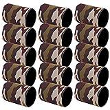 Fundas estándar de neopreno de primera calidad para latas, paquete de 15 aisladores para latas, soporte para enfriadores, fundas para latas de cerveza(Verde hierba camuflaje)