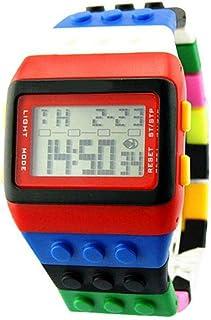 Orologio Bambino ZWRY Orologio elettronico colorato LED arcobaleno per bambini Orologio digitale da uomo Orologio da polso...