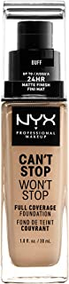 NYX Professional Makeup, Can'T Stop Won'T Stop Full Coverage Foundation - Buff 10