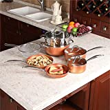 Kitchen Academy 10 Piece Nonstick Induction Cookware Set Includes Lids, Frying and Roasting Pans Accessories