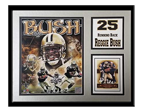 """Encore Reggie Bush New Orleans Saints 11""""x14"""" Frame Featuring an Official 8""""x10"""" Photograph and Players Card"""
