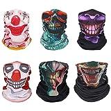MoKo Multifunktionstuch, 6 Stück Gesichtsmaske Stirnbänder Elastisch Nahtlos Sturmmaske Kopfband...
