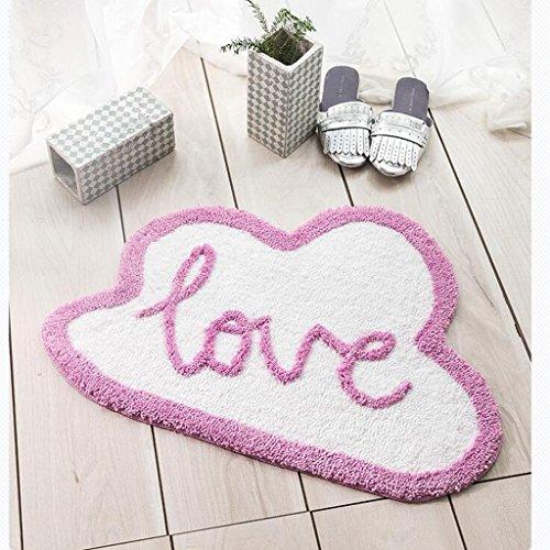 CKH Romantisch Roze Molding Matten Creatieve Tekst Entry Absorbent Badkamer Mat Anti-slip Deur Mat Thuis Bed Edge Pad