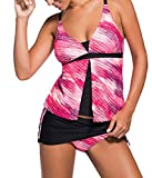 Choose Women Due Pezzi Imbottito con Scollo a V Tankini Bikini Swimsuit