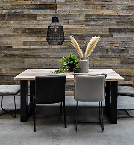Barnwood Wandholz grau, Wandverkleidung aus Alt Holz in 3D-Optik, 0,8 m2