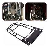 SHUMING 25415 Tapa del Panel del Centro de Control de la Fibra de Carbono del Engranaje de la Tira y la Cobertura del cenicero FIT for Audi A4 A5