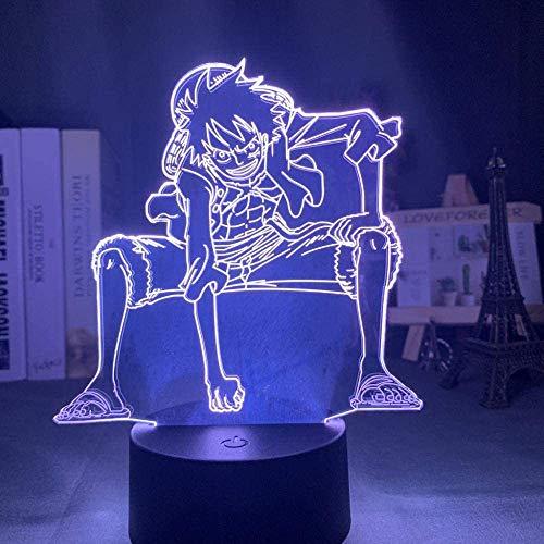 3D Nachtlicht 3D Nachtlicht Affe D Ruffy Figure Usb-Batterie Für Kidchild Schlafzimmer Dekor Led Nachtlicht One Piece -7_Colors_No_Remote