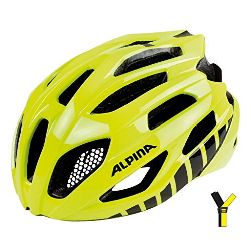 ALPINA FEDAIA Fahrradhelm, Unisex– Erwachsene, be visible, 53-58