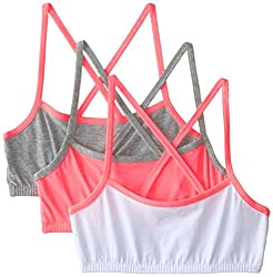 Fruit of the Loom Girls' Cotton Spaghetti Strap Sports Bra