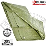 3x 5mt Lona occhiellato pesante 120gr/m² Cubierta toalla PE