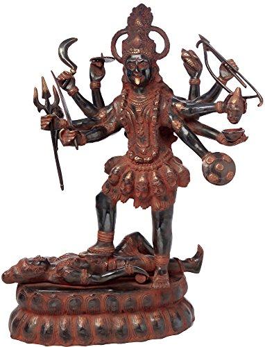 Exotic India Grande Déesse Mahakali, Rouge, Noir, Taille : 27,9 x 54,6 x 81,3 cm