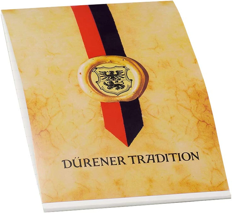 Dürener Tradition - Block 50 DIN A5, weiß satiniert B077D7472Y   Neueste Technologie