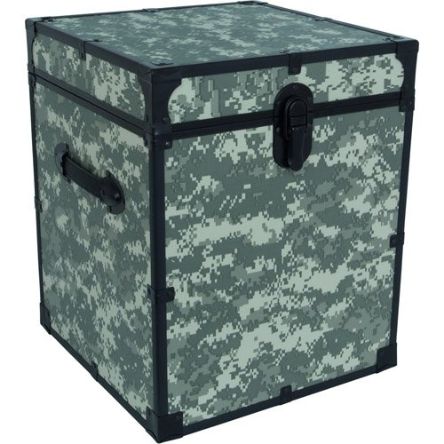 "Mercury Luggage Seward Trunk 20"" Footlocker, Camo - Bedroom Furniture Enclosed Storage Container Personal Belonging Organizer"