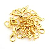 Gold Tone Lobster Clasp 23X12mm Alloy Claw Clasps for Jewelry Making Necklace Clasp Bracelet Clasps 50 pcs/lot