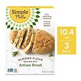 Simple Mills Almond Flour Mix, Artisan Bread, 10.4 Ounce (Pack of 3) (PACKAGING MAY VARY)