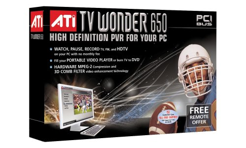 Best Buy! ATI 100-715331 TV Wonder 650 PCI Interface High Definition Personal Video Recorder for PC