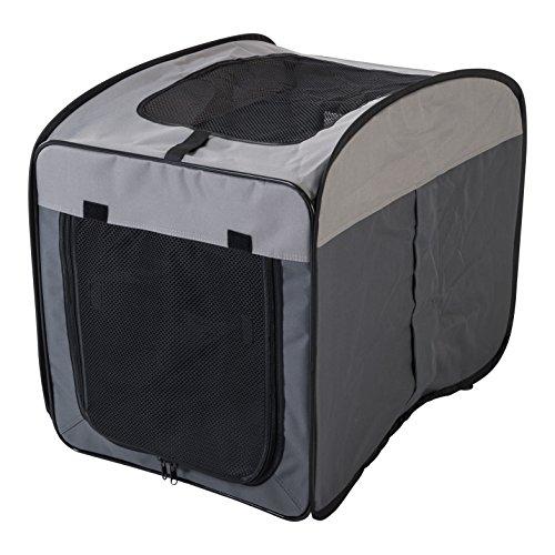 Iris Ohyama, Faltbare Transporttasche / Transportbox / Hundetragetasche, bequem, Reißverschlussöffnungen, ausgezeichtnete Luftzirkulation, für Katze & Hund