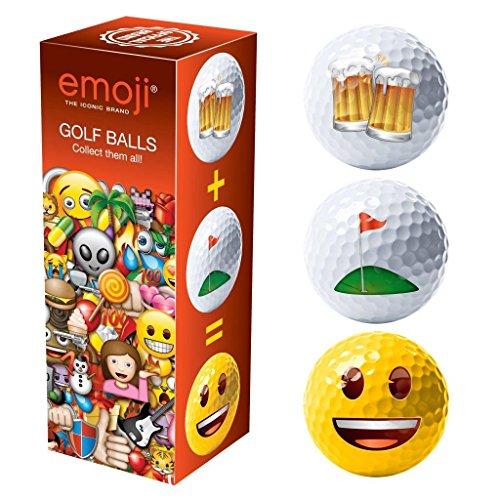 Emoji-Unisex Novelty Fun Golf Bälle (3Stück), rot