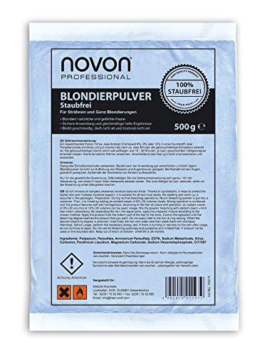 3 x Novon Blondierpulver 500g - Blondiert Natürliche Und Gefärbte Haare, Blondierung Staubfrei