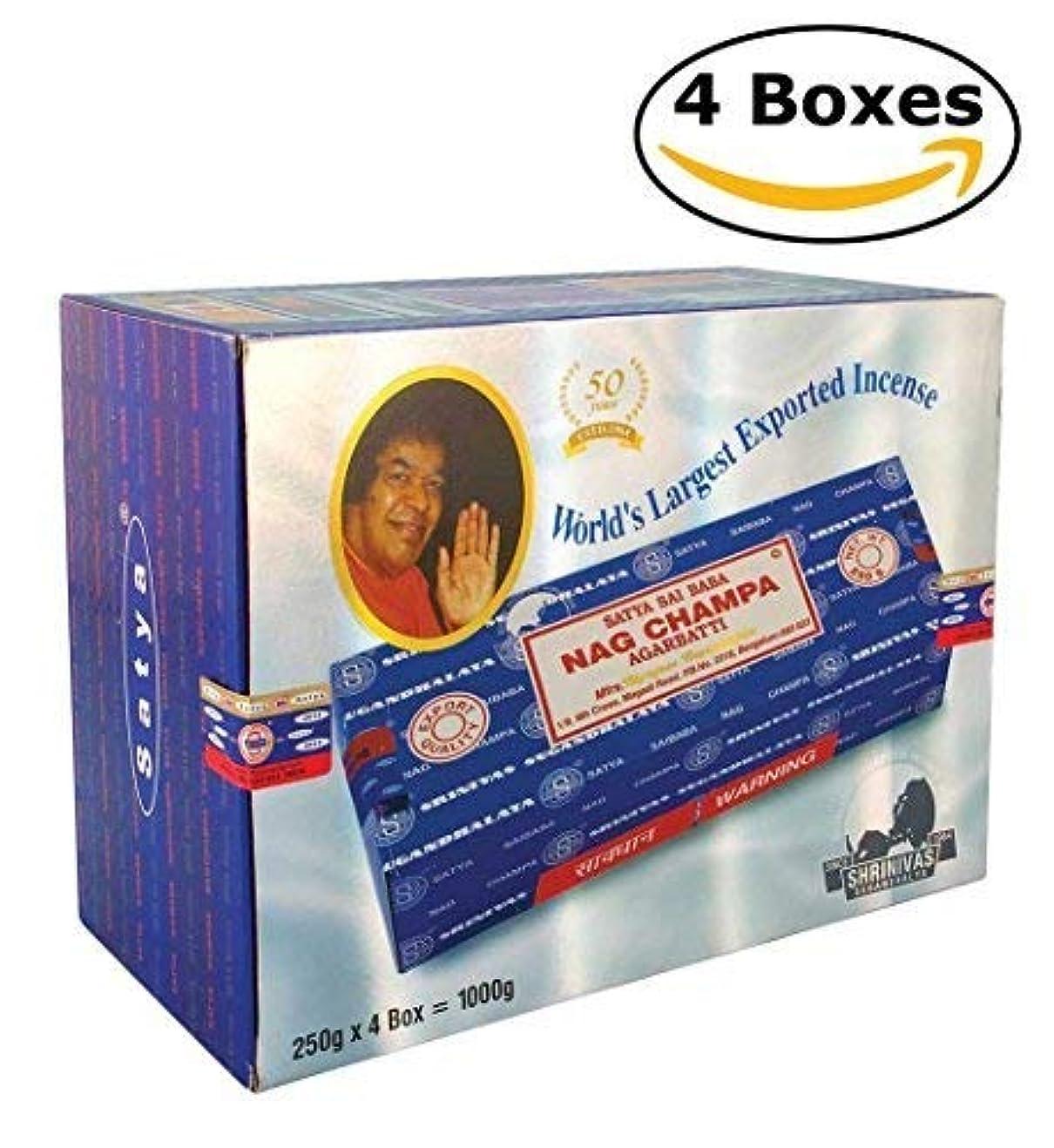 ハンサムトリッキージャンクションSai Baba Nag Champa Incense 1000 Gram (1000g - 4 packs) [並行輸入品]