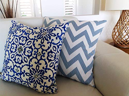 Hose233 - Cojines de estilo bohemio, color azul índigo