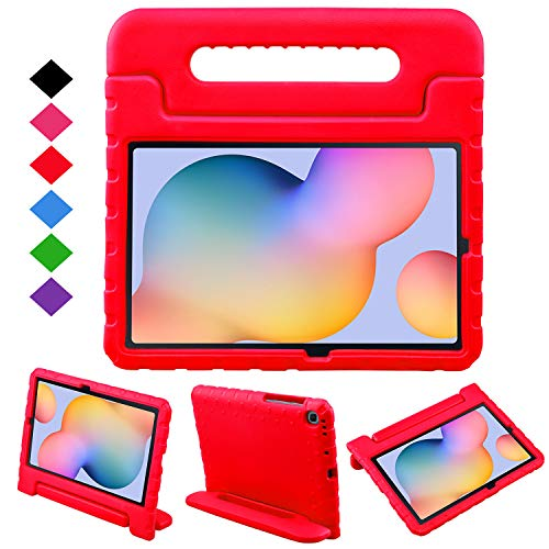 BelleStyle Kids Case for Samsung Galaxy Tab S6 Lite 10.4 Inch 2020 Model SM-P610/P615, Shockproof Lightweight Protective Case Kids Friendly Handle Stand Cover for Galaxy Tab S6 Lite 10.4' (Red)