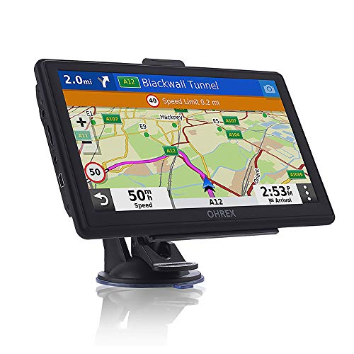 OHREX Sat Nav (7 inch), with 2021 UK Europe Maps (Free Lifetime Updates), GPS Navigation for Car Truck Lorry HGV LGV Motorhome, Post code POI, Speed Cam Alerts, Lane Guidance Assist