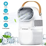 CONBOLA Portable Air Conditioner Fan, Personal Air Cooler Mini Quiet Evaporative Cooler with Large Capacity Water Tank 25.36 fl.oz, 3 Wind Speeds, Perfect for Office Desk, Dorm, Bedroom