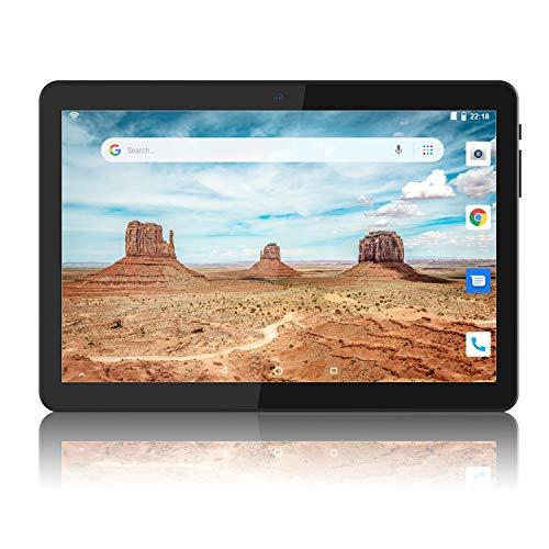 Tablet 10 Pulgadas Android 6.0 WiFi Unlocked 3G Phone Tablet PC 1GB + 16GB MTK6580 1.3GHz Quad-Core IPS Pantalla 800 × 1280 Dual Camera Soporte para teléfono Celular 2G 3G WiFi Bluetooth GPS - Negro