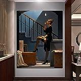 RTCKF Tänzer für Geld Poster Malerei Vettriano Leinwand