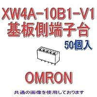 オムロン(OMRON) XW4A-10B1-V1 (50個入) コネクタ端子台基板側端子台 プラグ ストレート端子10極 (端子ピッチ3.81mm) NN
