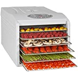 Kitchen Chef KYS333B KYS-333B Déshydrateur de fruit, 500 W, Transparent, Blanc