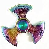 Metal Fidget Spinne rodamiento de Acero Inoxidable 3-5 Minutos de Alta Velocidad Giro antiestrés TDAH Juguete para niños Autismo Adulto Mejor Juguete de Mano de Enfoque EDC (B)