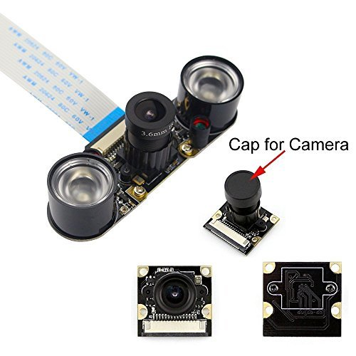 Longruner for Raspberry Pi 4 Camera 5MP 1080p OV5647 Sensor HD Video Webcam Night Vision For Raspberry Pi 4 3 model B B+ A+ RPi 2 1 SC15