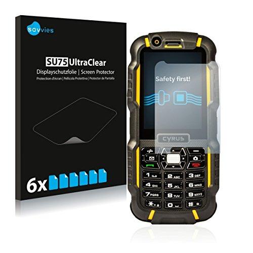 6x Savvies SU75 UltraClear Bildschirmschutz Schutzfolie für Cyrus CM 15 (ultraklar, mühelosanzubringen)