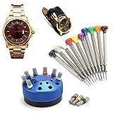 zjchao cacciavite per orologi in metallo di qualità, rimozione della copertura per orologi kit di strumenti per la riparazione di orologi per orologiai occhiali per telefoni cellulari videocamere