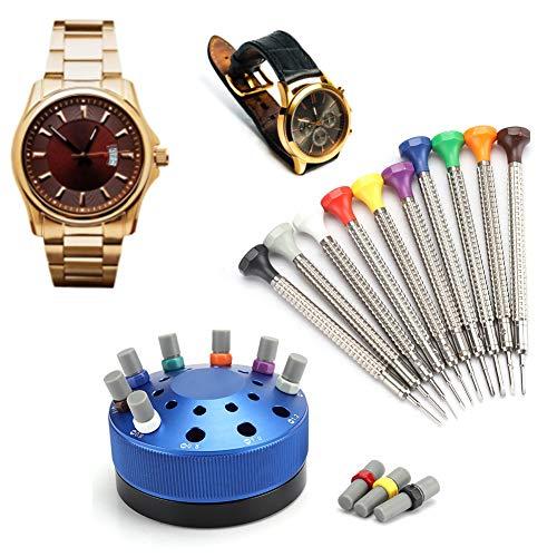 ZJchao Destornillador de Metal de Calidad, Kit de Herramientas de reparación para relojeros, teléfonos móviles, Gafas, cámaras, Juguetes electrónicos y Otros electrodomésticos.