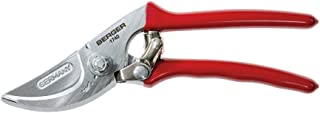 Berger Tools Berger Bypass #1740 Pruning Shear with Angled Cutting Head for Smaller Hands, Red