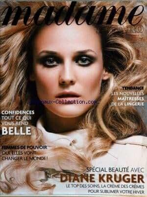 MADAME FIGARO du 05/11/2005 - LES NOUVELLES MAITRESSE DE LA LINGERIE - ETRE BELLE - FEMMES DE POUVOIR - DIANE KRUGER - BEAUTE.