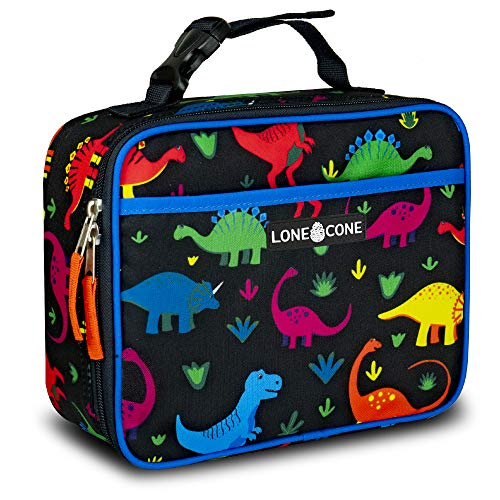 LONECONE Kids' Insulated Lunch Box - Cute Patterns for Boys and Girls, Shark Bite, Standard