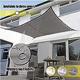 LMDX - Toldo protector de lluvia para balcón, rectangular, ligero, protección UV, perfecto para terrazas exteriores, patio trasero, aparcamiento, piscina, lona resistente al agua
