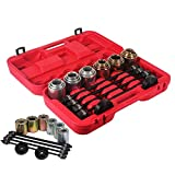Ou Best Choose - Set universale di attrezzi con estrattori per cuscinetti ruota, 26 pezzi,...